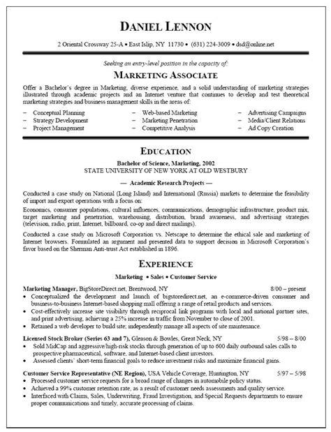 sle resume fresh college graduate sle resume fresh