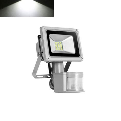 cool white 20w pir motion sensor led flood