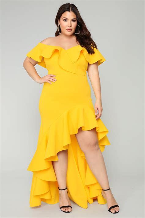mermaid dress yellow yellow size dresses havana nights