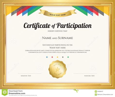 certificate participation template editable free certificatetemplateword