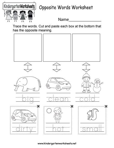 english opposites worksheet free kindergarten english worksheet kids