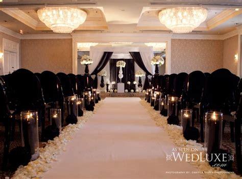 reception black lace linens linen tables adorned black