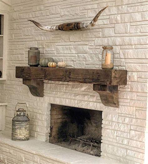 reclaimed wood beam nice mantle