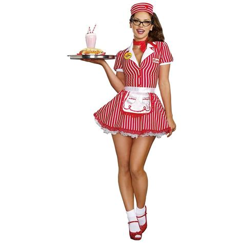 car hop costume adult 50s waitress halloween fancy