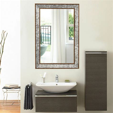 36 wall mirror beveled rectangle vanity bathroom furniture