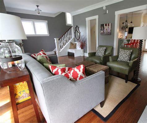 grey walls living room decorate