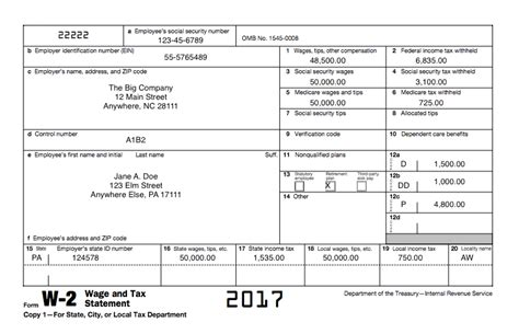 understanding tax forms 2017 form 2 wage tax