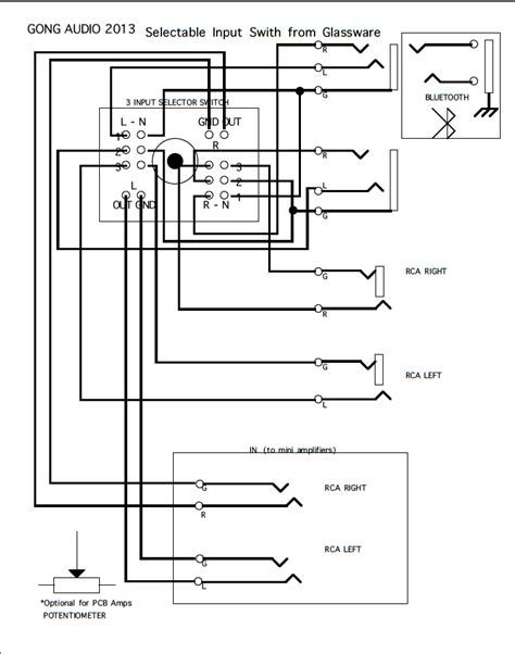 wiring diagram selectable switch rnd 1 speaker gong