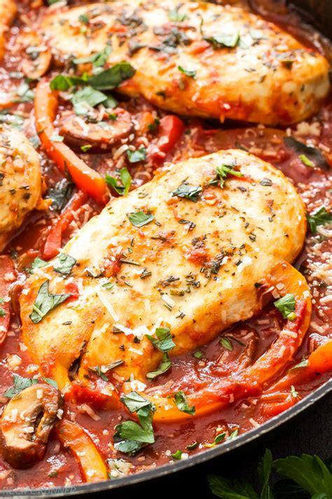 easy skillet chicken cacciatore recipe runner