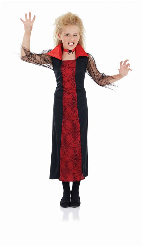 halloween fancy dress girls vampiress costume age 7