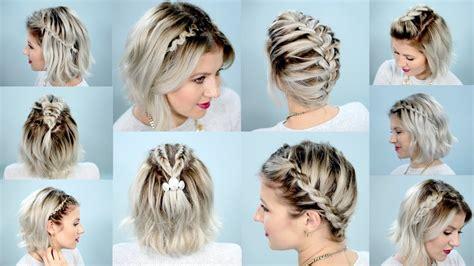 10 easy braids short hair tutorial milabu youtube