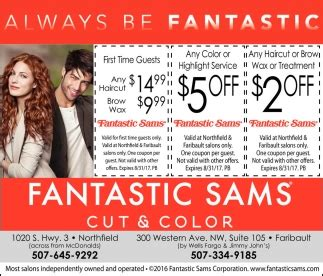 weekday specials fantastic sams cut color northfield mn