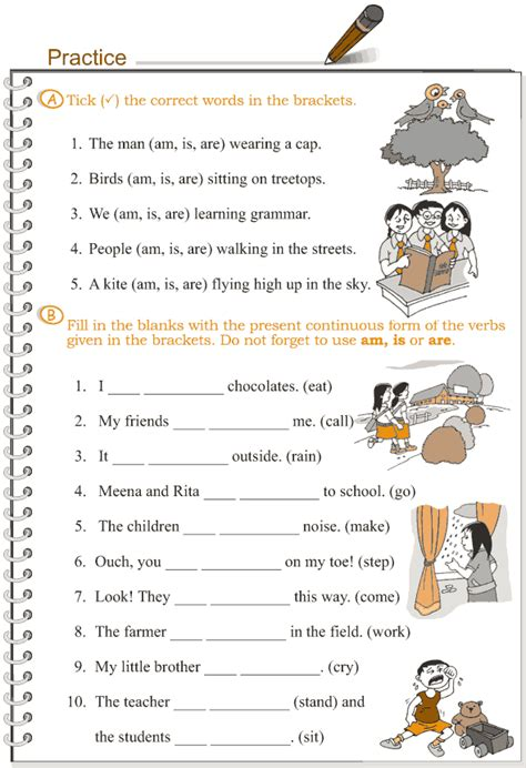Present Continuous Tense Worksheets For Grade 3.html
