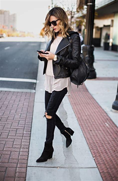 wear leather jacket winter 2020 fashiontasty