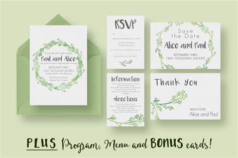 hip wedding invitation suite invitation templates creative market
