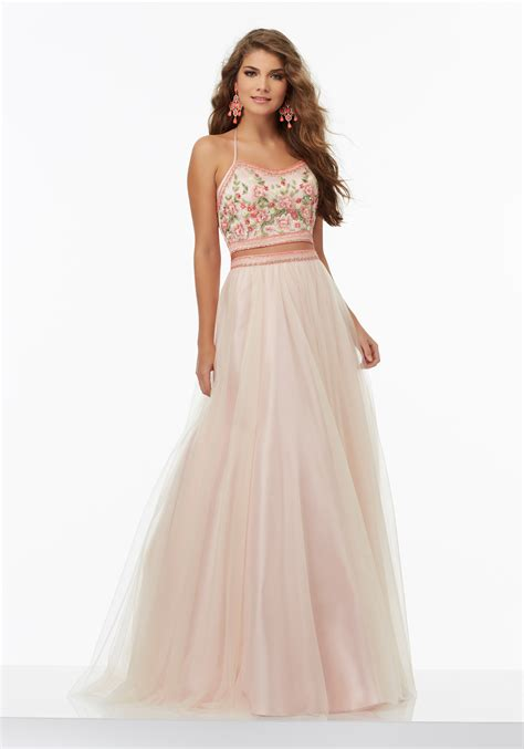 piece prom dress tulle skirt style 99112 morilee