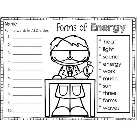 image result forms energy worksheet grade energy forms
