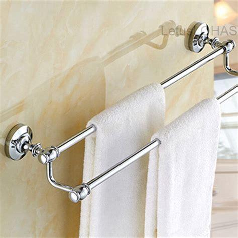 chrome polished brass bath towel holder wall mounted