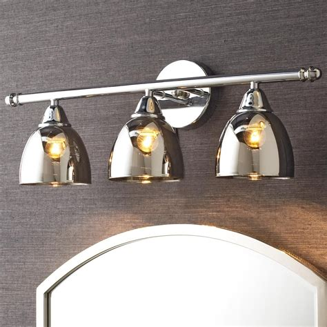 chrome translucent glass vanity light 3 light vanity