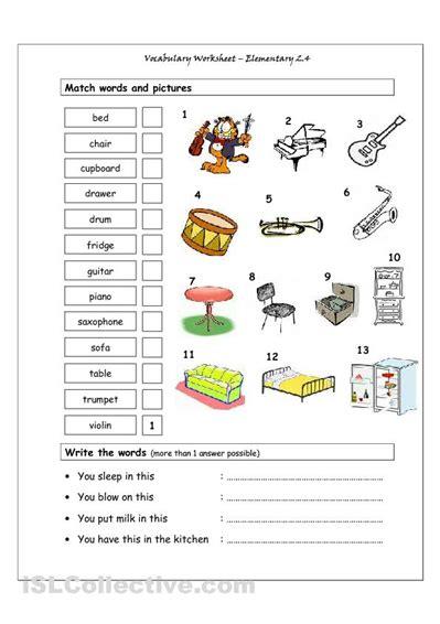 house vocabulary spanish worksheets music vocabulary vocabulary