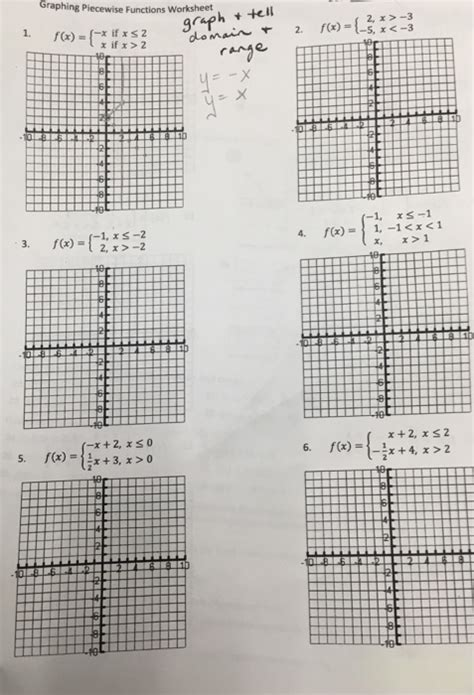 solved graphing piecewise functions worksheet