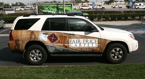 fair price carpets partial wrap car wraps vehicle
