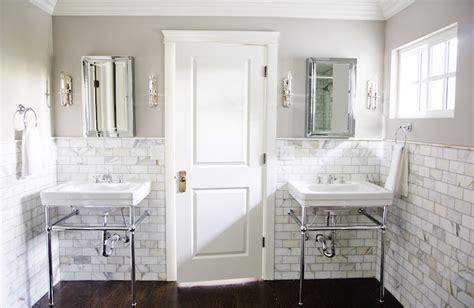 gray walls contemporary bathroom benjamin moore revere pewter