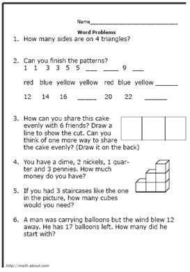 free printable worksheets grade math word problems math