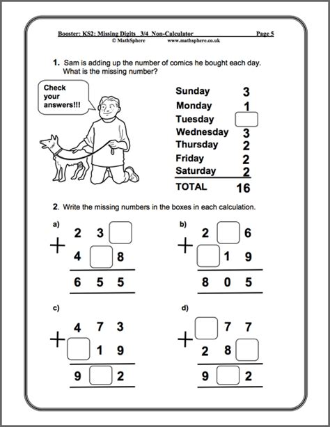 level 3 4 missing digits maths worksheets free