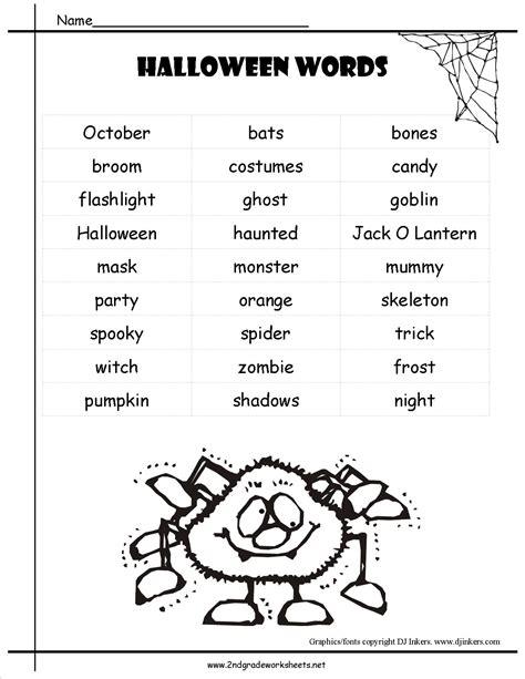 halloween worksheets printouts