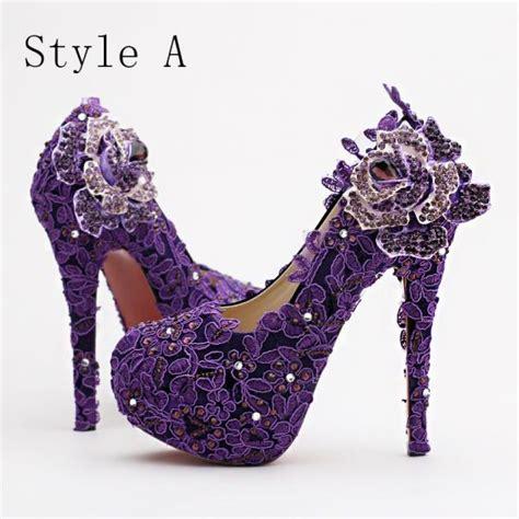 chic beautiful purple 2018 14 cm pointed toe