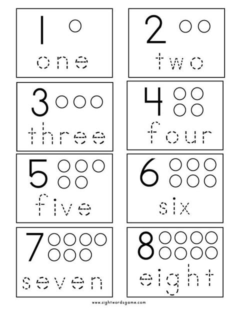 math sight number worksheets numbers preschool numbers kindergarten