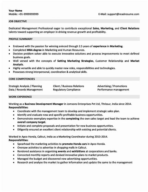 5 years experience marketing marketing resume resume experience