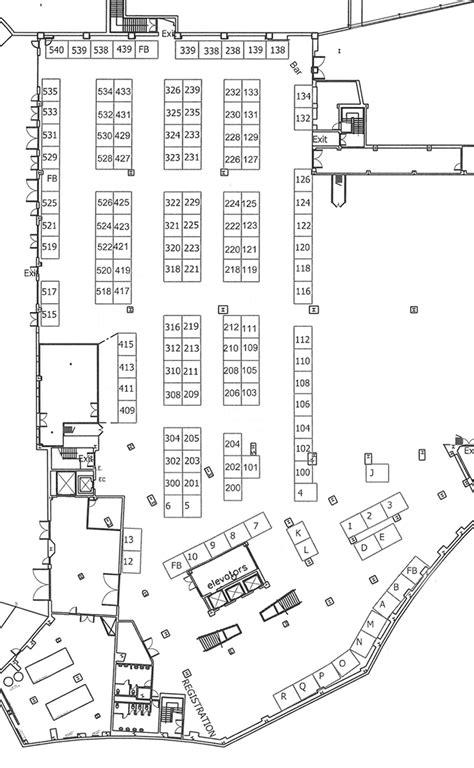 trade show floor plan phca