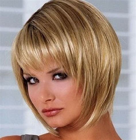 bob bangs 40 layered bob hairstyles bangs blonde