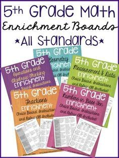 math enrichment boards grade standards math enrichment grade