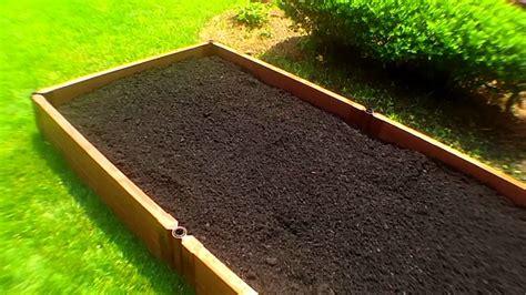raised bed organic vegetable gardening planting deep soil