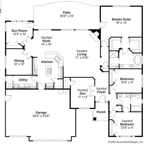 open ranch style floor plans ranch style house