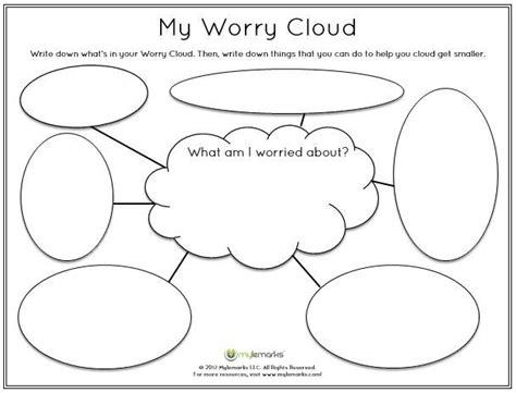stress management children identify worries worksheet mylemarks