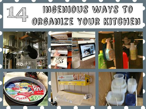 14 ingenious ways organize kitchen