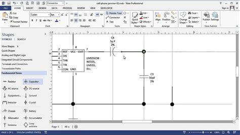 visio circuit diagram time lapse simple cell phone