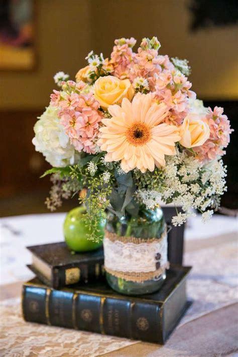 great idea wedding centerpiece lush floral pastel colors