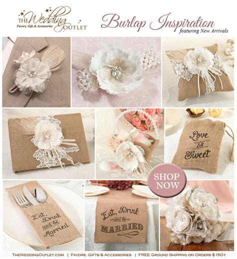 burlap lace collection rustic weddings