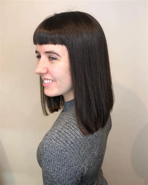 53 popular medium length hairstyles bangs 2020