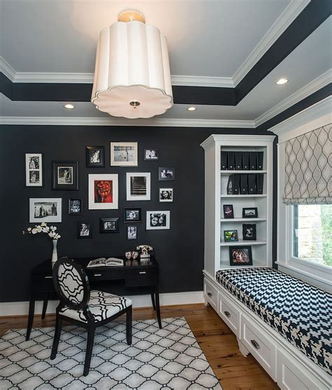 30 black white home offices leave spellbound