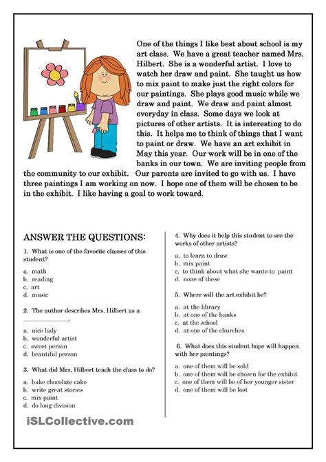 primaryleap reading comprehension baby brother читательские листы понимание