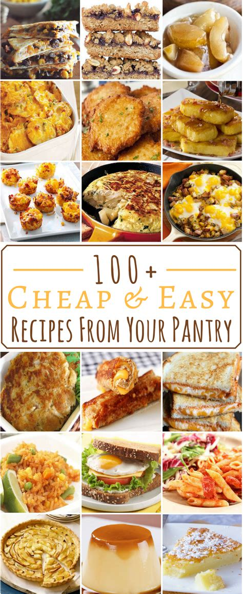 100 cheap easy pantry recipes cheap easy meals