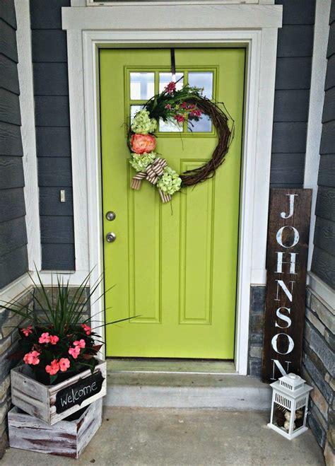 green front door lime green decor pinterest green