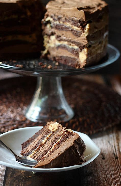 10 layer chocolate caramel mousse cake mind batter
