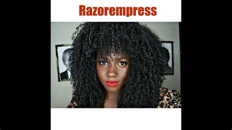 curly hair routine wash routine natural hair razorempress